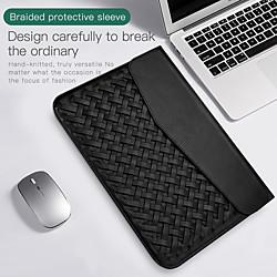 13,3-Zoll-PU-Leder-Laptop-Hülle für Macbook-Webmuster, wasserdicht, stoßfest, Notebook-Hülle Lightinthebox