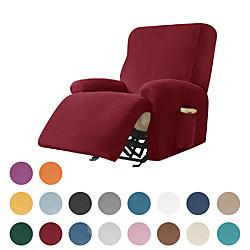 Image of fodera per divano reclinabile in velluto elasticizzato, fodera morbida per divano in 4 pezzi, fodera per divano con anello elastico, protezione per mobili lavabile per bambini, animali domestici, Lightinthebox