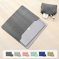 11/12/13.3/13/15/15,6 Zoll PU-Leder-Laptop-Hülle für MacBook Pro wasserdichte, stoßfeste Laptop-Tragetasche für MacBook Air mit Aufbewahrungstasche Lightinthebox