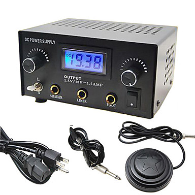 Dual output digital lcd tattoo power supply 81429 2016 for Power supply for tattoo
