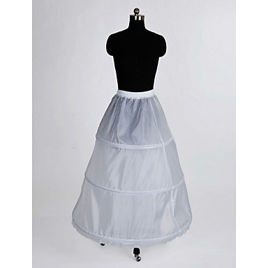 Nylon a line full gown 1 tier floor length slip style for Full length slip for wedding dress