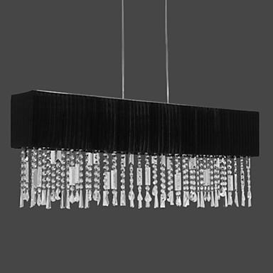 lampadario cristalli : luce lampadario di cristallo con paralume in tessuto lampada (1069 ...