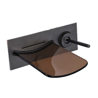 Oil Rubbed Bronze Waterfall Bathroom Sink Faucet Wall
