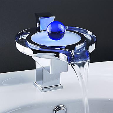 Kings rubinetto da bagno monocomando a cascata con led - Rubinetto bagno cascata ...