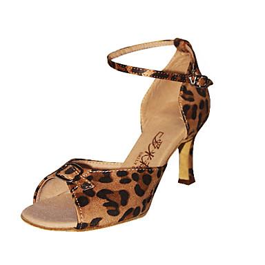 Sal n de baile de moda del leopardo de tela patr n de - Zapateros de tela ...