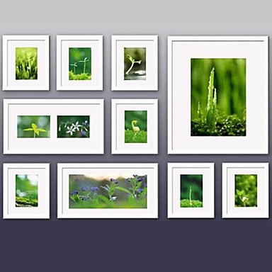 Contemporary gallery white collage wall picture frames - White wall picture frames ...