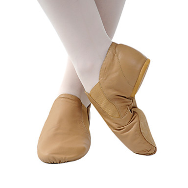 Fashion Womens Leather And Fabric Upper Jazz Dance Shoes More Colors Real Leather Upper Dance Shoes