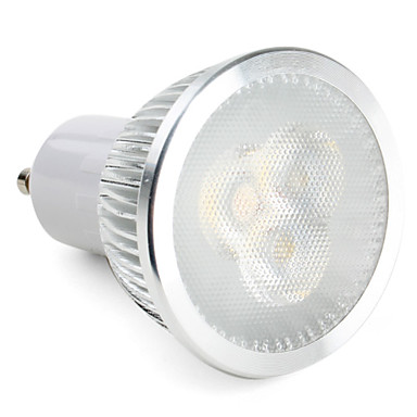 lampadina gu : 6W GU10 LED Spotlight MR16 3 High Power LED 310 lm Natural White ...