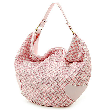 pletené módní dámské pu taška přes rameno #00289090