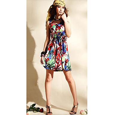 gaine en polyester mini robe d 39 t encolure en v 00299170. Black Bedroom Furniture Sets. Home Design Ideas