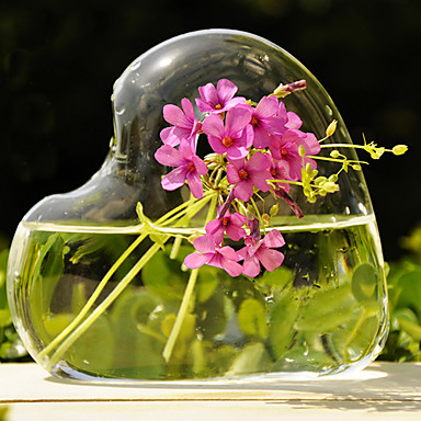 Table Centerpieces Artistic Heart Shaped Glass Vase Table