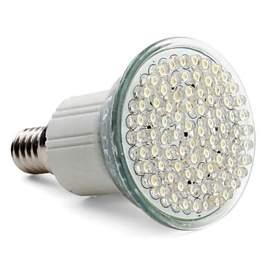 Lâmpada de Foco LED Branco Quente E14 3-3.5W 80-LED 400LM 6000-6500K (220-240V) - USD $ 8.99