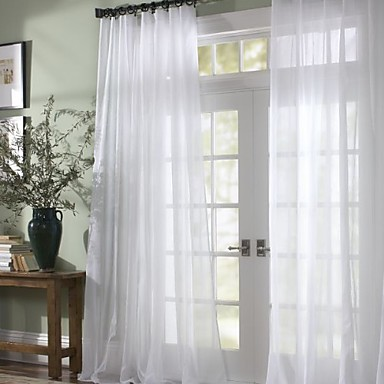 Curtain Modern , Solid Bedroom Polyester Material Sheer Curtains ...