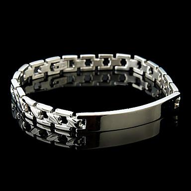 Mode bracelet en acier inoxydable pour hommes (Argent) de 594549 2017 à $2.99