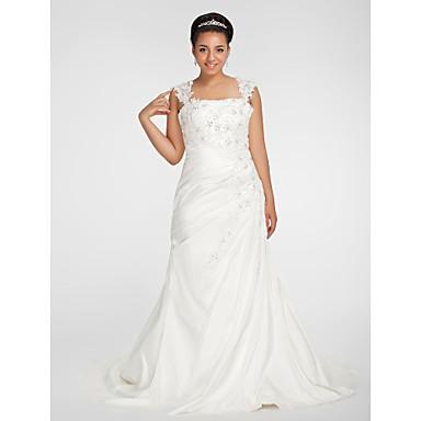 Lanting bride trumpet mermaid petite plus sizes for Plus size fall wedding dresses
