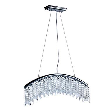 Contemporanea lampade pendenti di cristallo con 8 luci a LED in design ad arc...