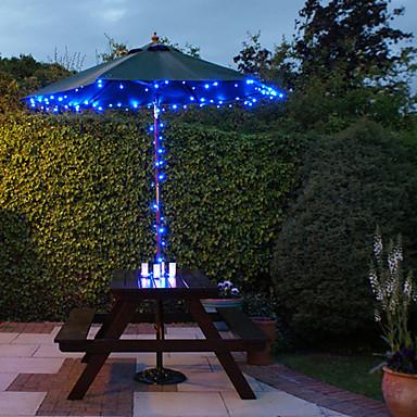 100 blue outdoor led solar fairy lights christmas decor for Lanterne led exterieur