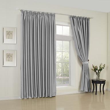 To paneler moderne solide grå soveværelse rayon panel gardiner ...