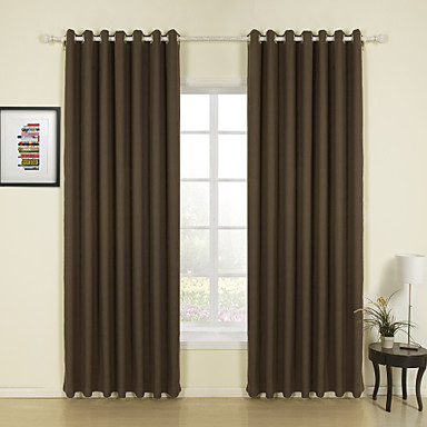 Curtains Ideas brown linen curtains : Modern Two Panels Solid Brown Living Room Linen Panel Curtains ...