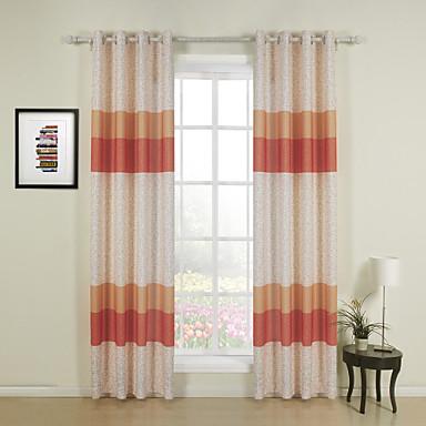 concepteur deux panneaux bande orange salle manger rideaux poly coton m lang rideaux de. Black Bedroom Furniture Sets. Home Design Ideas