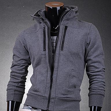 Zwart Heren Vest Met Rits 78