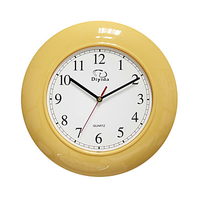 12 h estilo moderno reloj de pared de color amarillo - Reloj de pared moderno ...