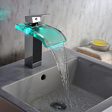 hedendaagse chroom led waterval waterkrachtcentrale glazen. Black Bedroom Furniture Sets. Home Design Ideas