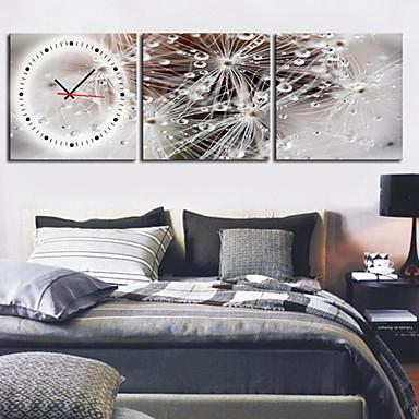 Modern scenic wall clock in canvas 3pcs k0027 447346 2017 for Immagini orologi da parete moderni