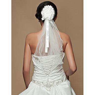 satinato splendida / tulle con velo da sposa da sposa sash / copricapo ...