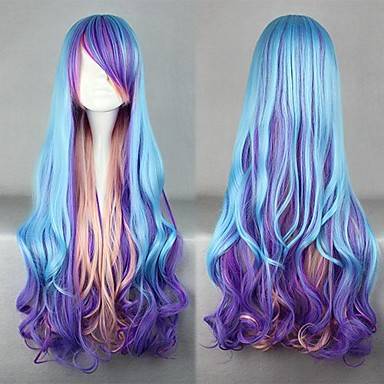 Pink Purple And Blue Wig 26
