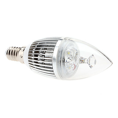 E14 3W 240-270lm 6000-6500K Branco Natural Lâmpada LED Vela (85-265V) - USD $ 7.99