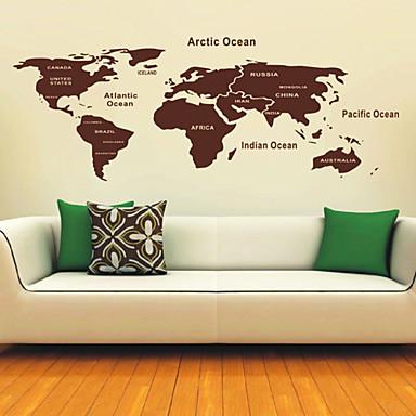 carte des stickers muraux monde de 481239 2016. Black Bedroom Furniture Sets. Home Design Ideas
