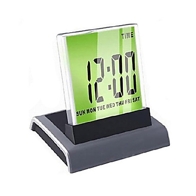 colorful light digital alarm clock calendar thermometer 3xaaa 56717 2016. Black Bedroom Furniture Sets. Home Design Ideas