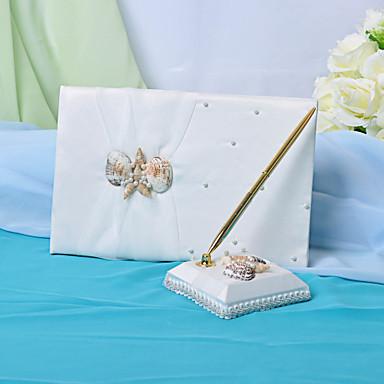 mariage livre d 39 or et un stylo serti de signe de coquillage dans le livre usd. Black Bedroom Furniture Sets. Home Design Ideas