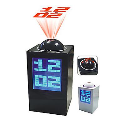 Vækkeur med projektor og udendørs temperatur – Cykelhjelm med led lys