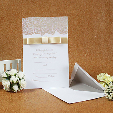 Simple Wedding Invitations with Ribbon