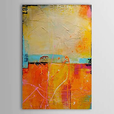 Hand Painted Abstract Vertical Traditional Classic One