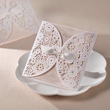 Personnalis format enveloppe poche invitations de mariage cartes d 39 invitation 50 pi ce set - Hochzeitseinladungskarten vintage ...