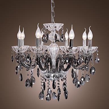 lightinthebox lampadari : Candela in vetrina 8 - Lampadari leggeri con gocce di cristallo grigio ...