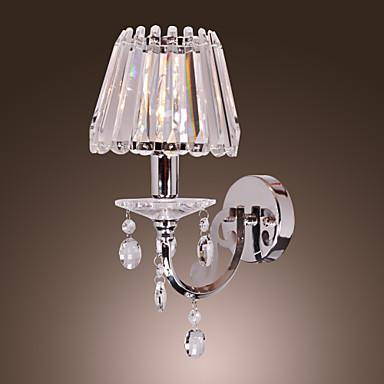 40W moderna cristallo applique da parete con 1 luce in ...