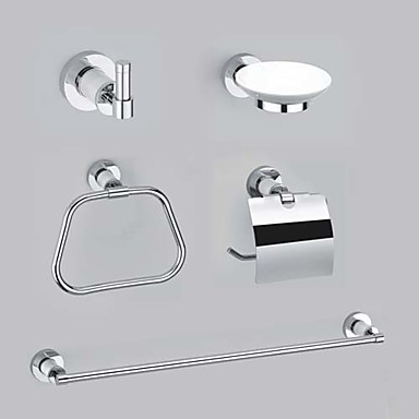 Chrome accessoires salle de bain contemporaine laiton - Accessoire salle de bain dore ...