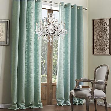 moderne twee panelen stevige blauwe woonkamer faux linnen ...