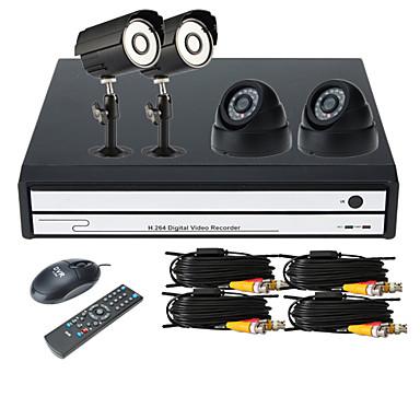 4 canali kit dvr con visione smartphone 2 x telecamere for Telecamere x esterno