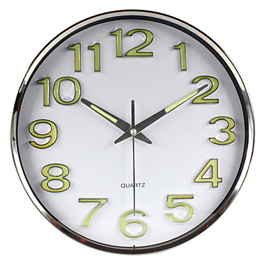 12 h business stainless steel wall clock 546261 2017. Black Bedroom Furniture Sets. Home Design Ideas