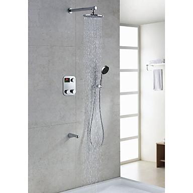 Grifo de la ducha termost tica lcd moderna con 8 pulgadas for Grifos de ducha termostaticos