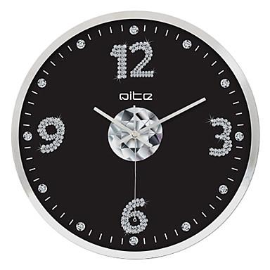 12 h empresarial moderno reloj de pared de acero - Reloj de pared moderno ...