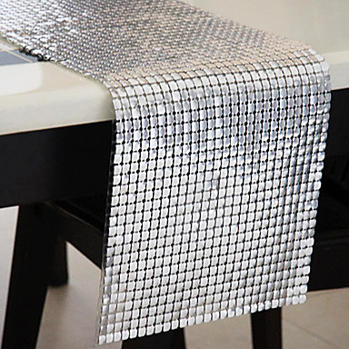 Silver as per picture polyester table runners 590002 - Chemin de table etoile ...