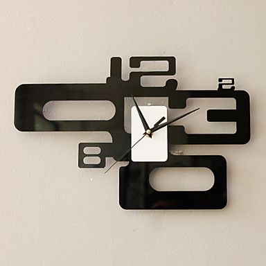 Modern Fashion Wall Clock in Artistic Number Featured