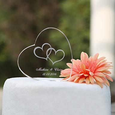 Crystal Vine Monogram Heart Cake Topper