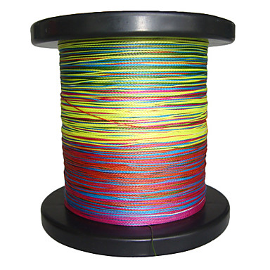 500m 550 yards pe braided line dyneema superline for Red fishing line